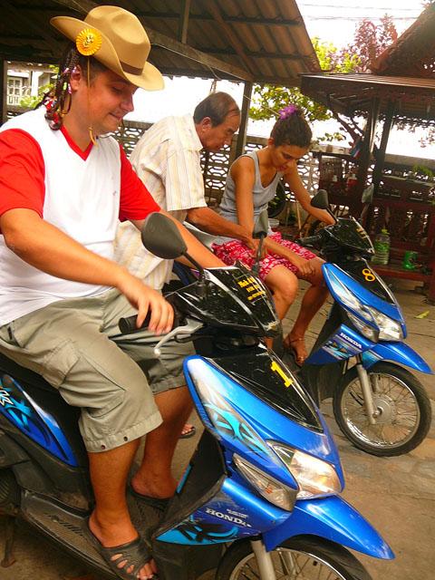 bike training, Kanchanaburi, Thailand