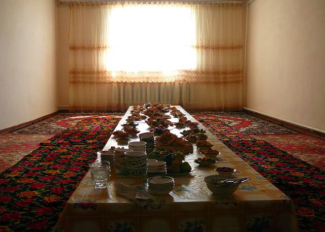 Дастархан в Узбекистане