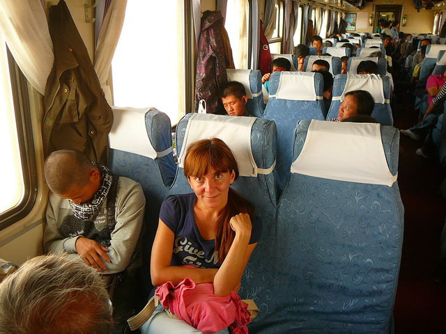 Hard seat, China train
