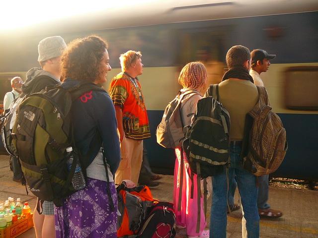 Индия, поезд в Хампи