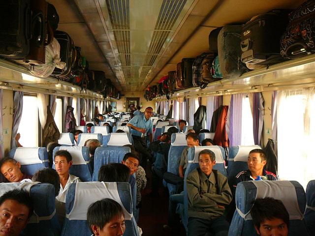 hard sit class coach china train