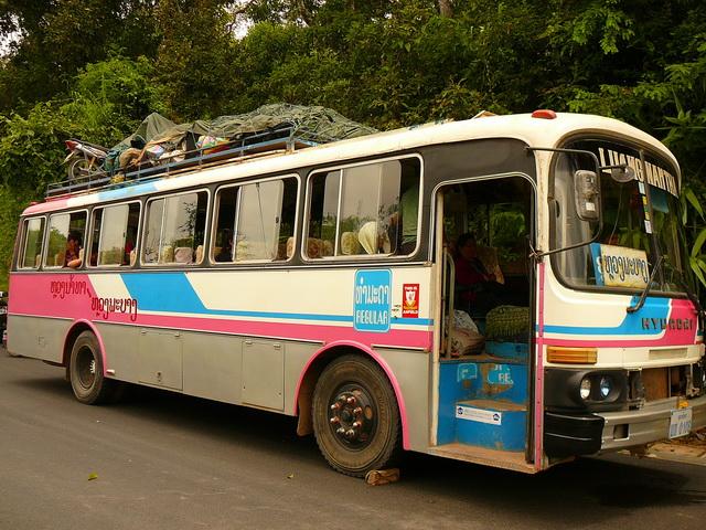 Автобусы в Лаосе