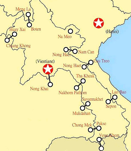 Map of Lao cross border