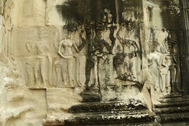 Барельеф, Ангкор Ват, Камбоджа, Юго-восточная Азия