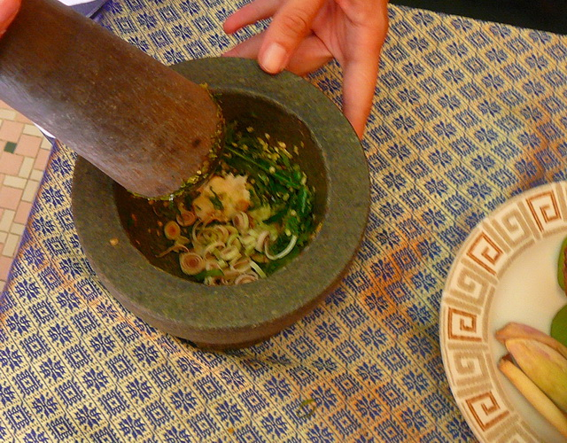 Готовим Green curry paste