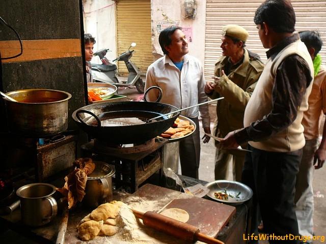 Индия, Дели, еда