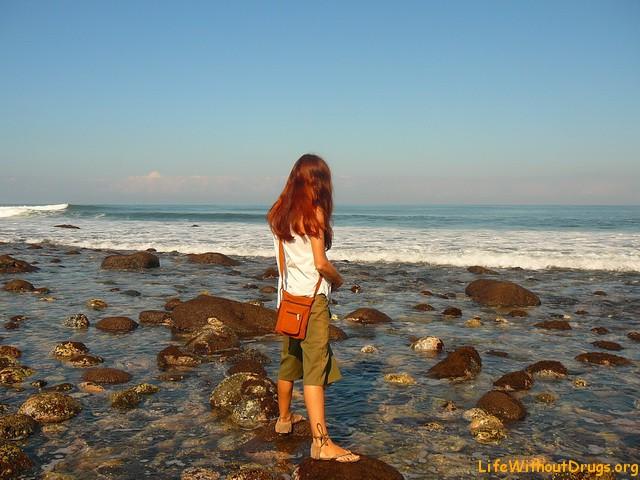 Пляж и океан на Бали