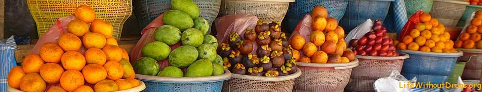 Какие фрукты в Азии