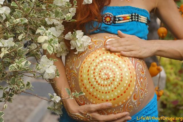 Боди арт для беременных