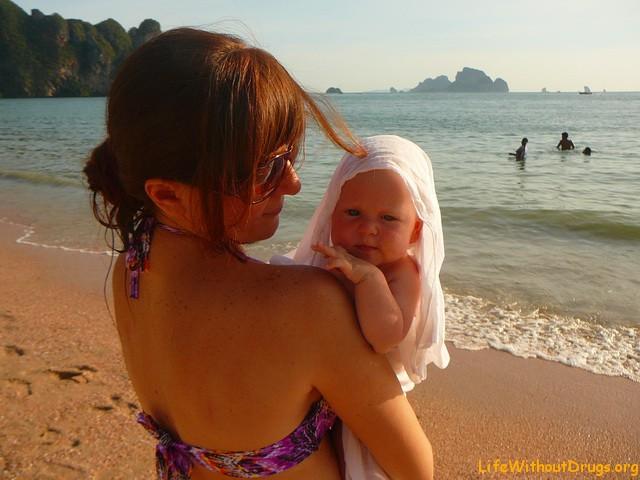 Наш первый заплыв на море