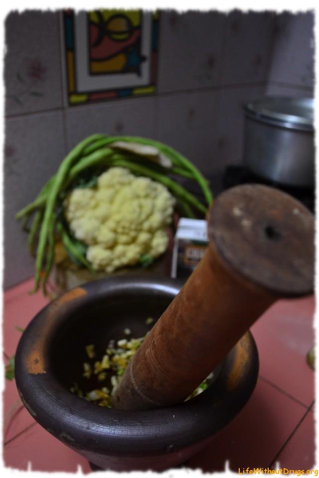 Тайская кухня. Вегетарианский Грин Карри.