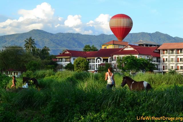 Природа Лаоса, деревушка Ванг Виенг