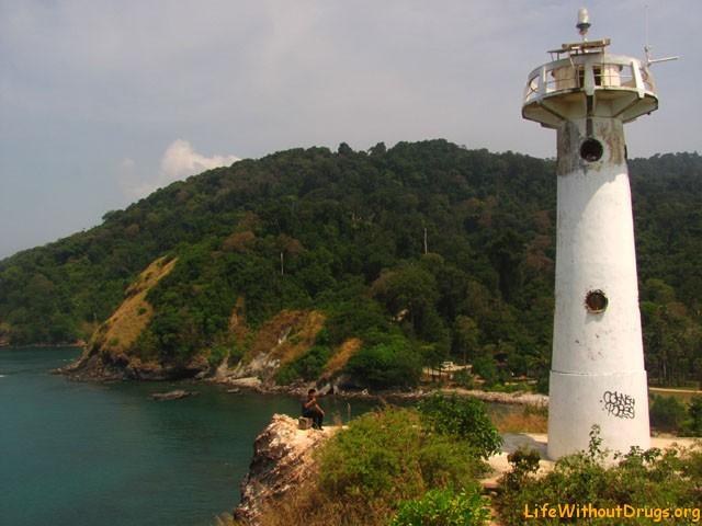 Маяк в национальном парке на острове Ко Ланта