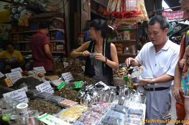 Китайский чай на китайском рынке)