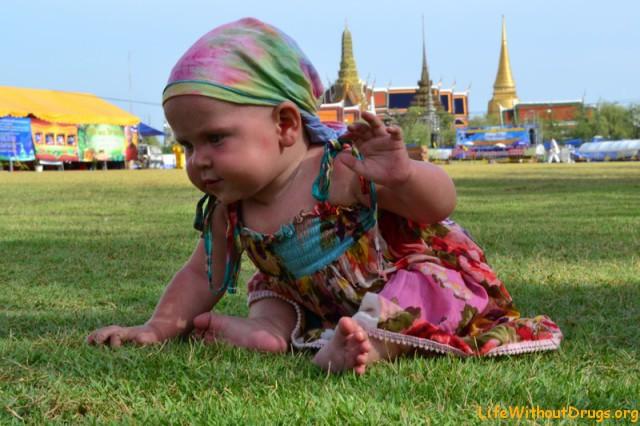 С малышкой в Бангкоке