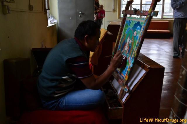 Тибетское искусство Тханка.Норбулинка.