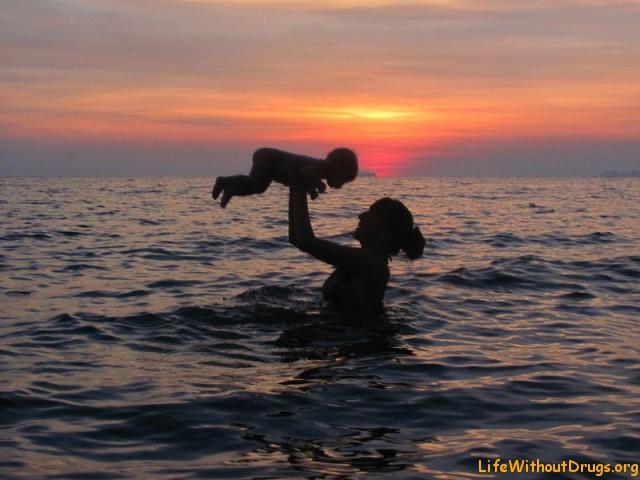 Плавание детей до года