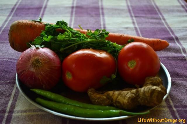 Овощи для Палак Панира
