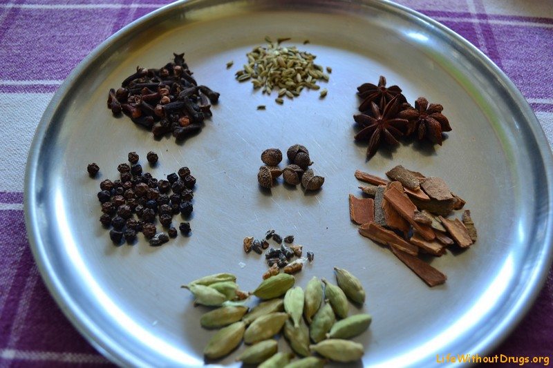 Индийские специи для масала чая