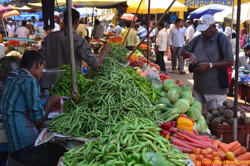 Индийский рынок, фото
