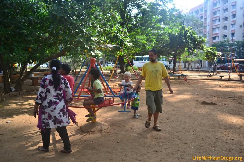 Детская площадка в Кочине