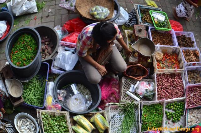 Утренний рынок в Убуде
