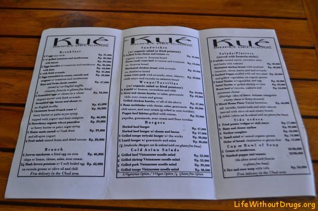 Цены на рестораны Убуда