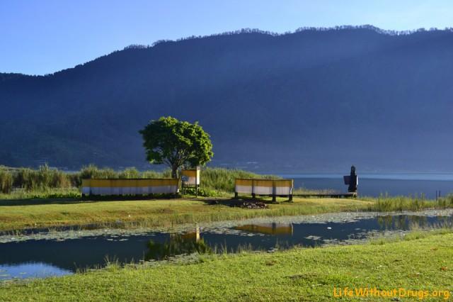 Фотография - утро на озере Братан