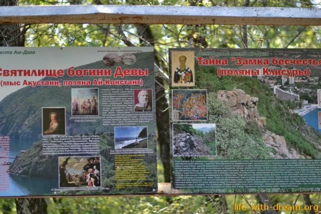 Легендарные места на горе Аю-даг