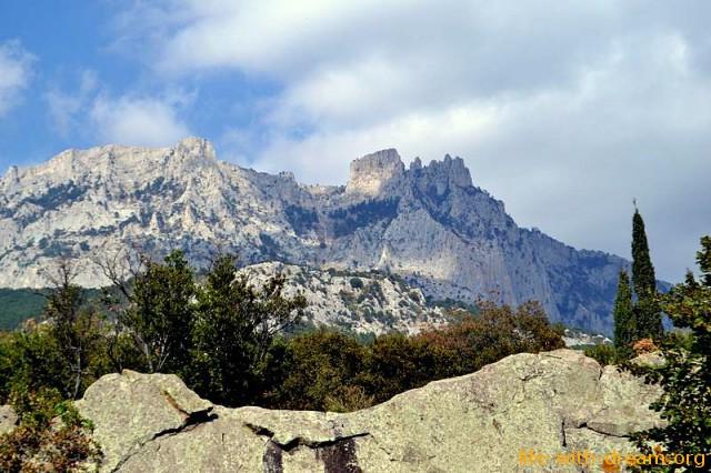 Гора Ай-Петри вид из Алупки