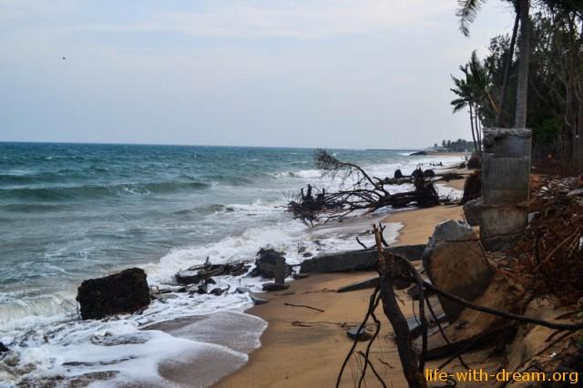 пляж и море в Ауровиле