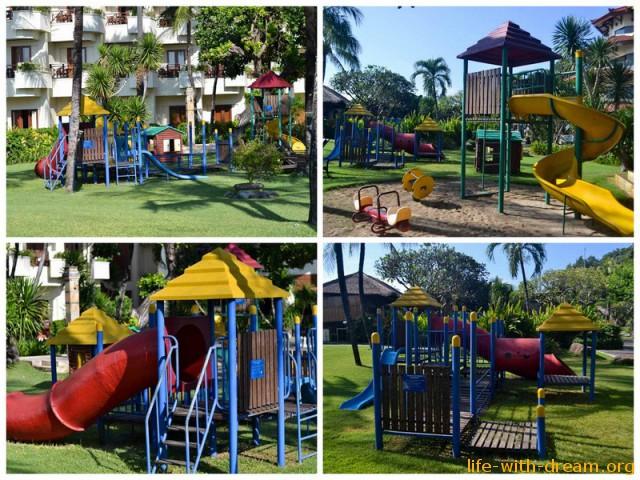 Детская площадка в отеле Grand Mirage Resort Thallaso Bali