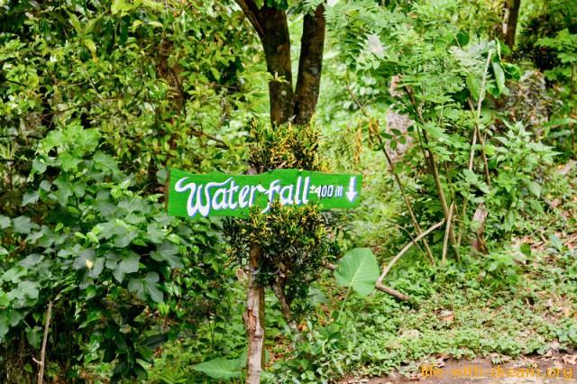 спуск к водопадам от деревни Лемуки