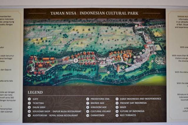 Парк Taman Nusa - подробная карта