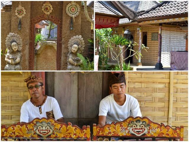 Традиционный балийский дворик в парке Таман Нуса