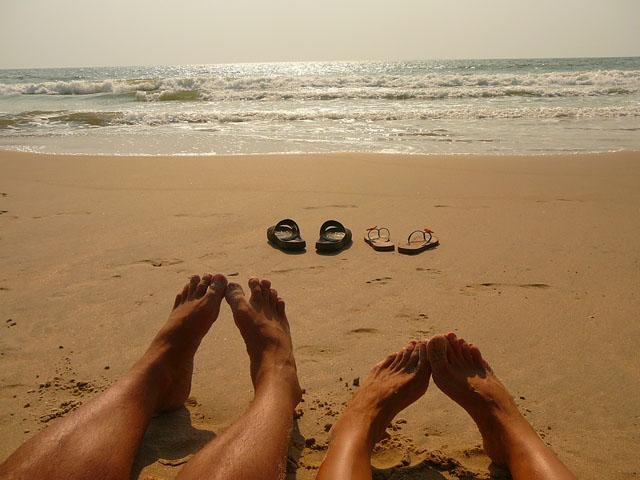 Как хорошо на берегу океана в Индии :)