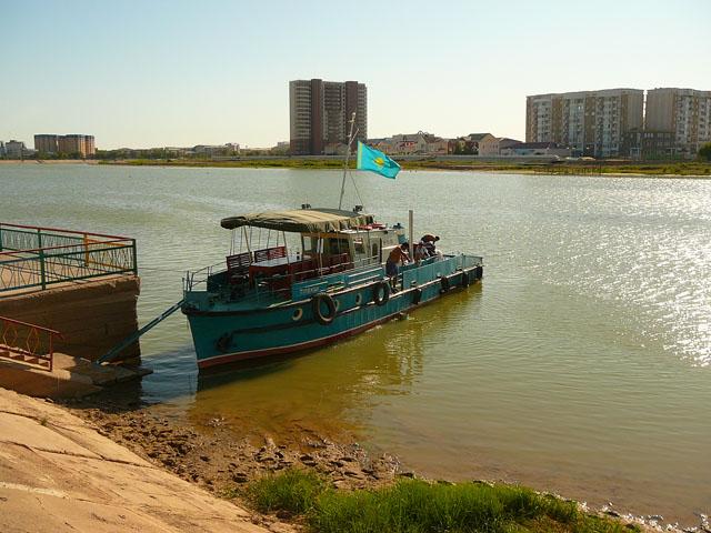 река Урал, Атырау, Казахстан