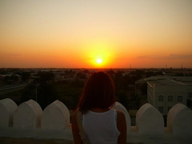 закат в крепости, Бухара