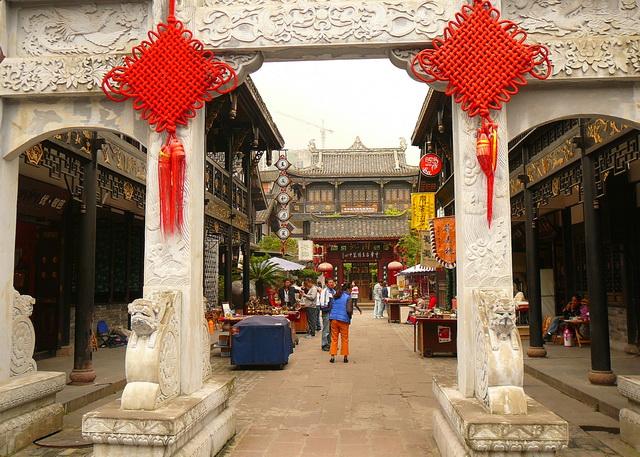 Sichuan, Chengdu,China, Jǐnlǐ Lùxiàn, 锦里路线