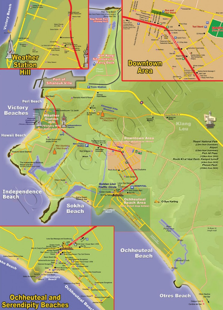 map of sihanoukville