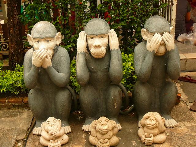Три обезьяны, буддизм