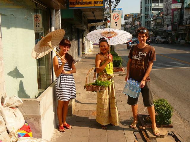 Мы на курсах тайской кухни в Бангкоке.