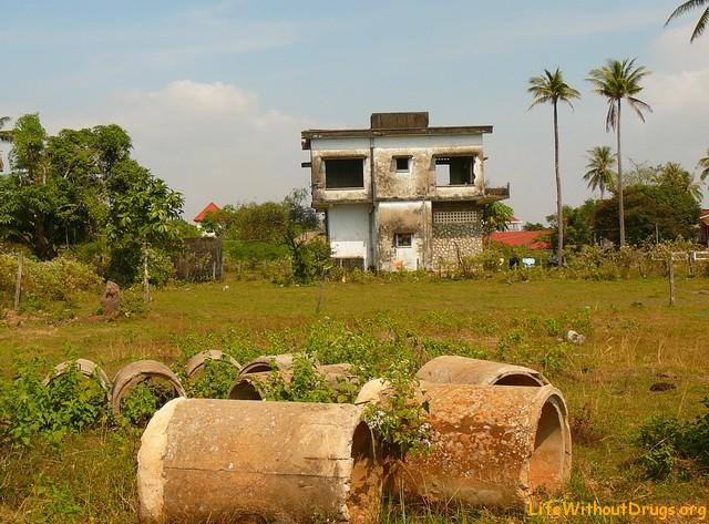 Old villa area in Kep, Cambodia