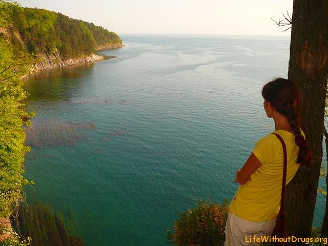 Скала Киселева и Черное море