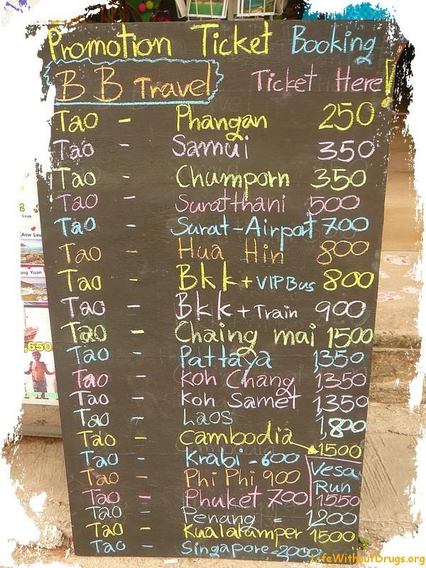 Ко Тао, цены