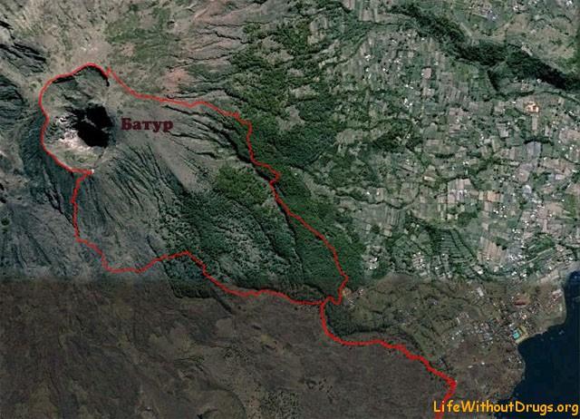 Вулкан Батур - ночное восхождение встреча рассвета