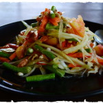 Тайские рецепты. Вегетарианский салат из манго или папайи.