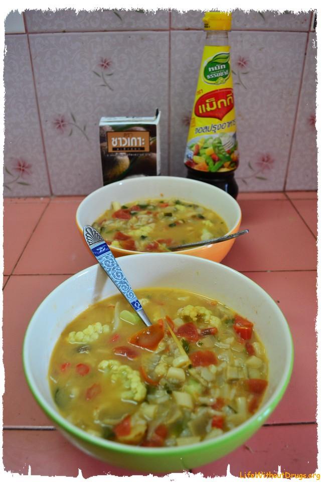 Вегетарианский суп Том Ям