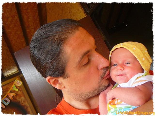 Папа и дочка. Любовь.