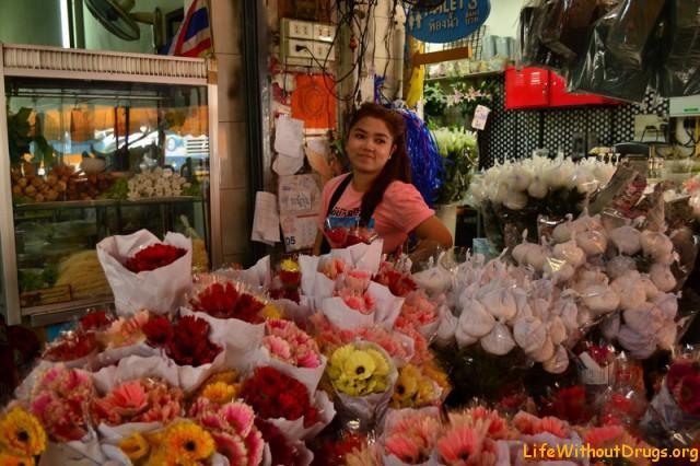 Рынок цветов в Бангкоке